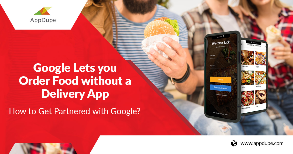 Google - order food with out app