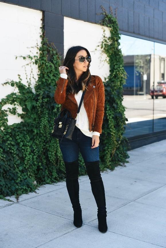 long coat and a midi