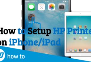 How to setup Hp Printer to iphone